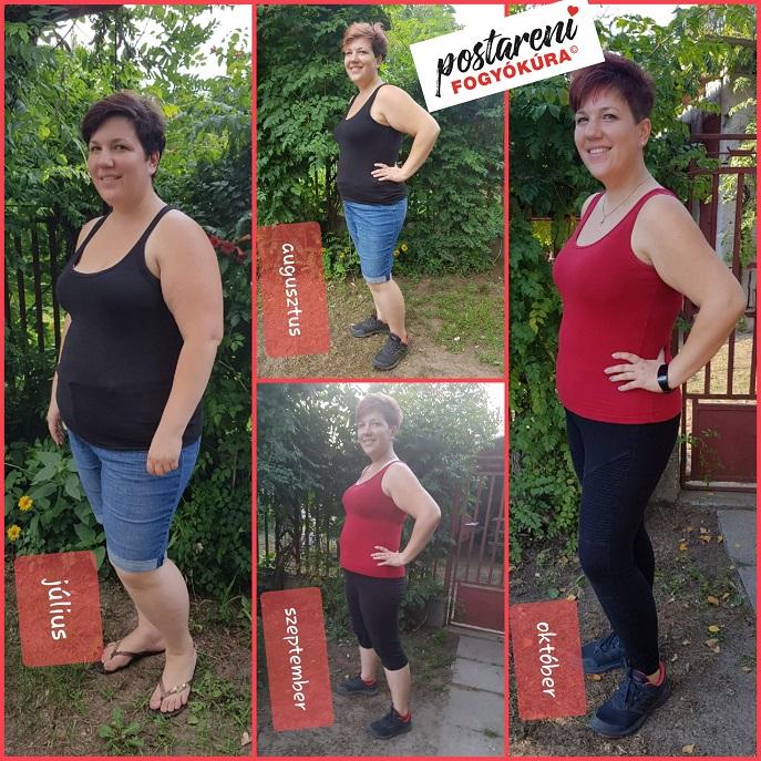 három hónapos fogyás előtte és utána