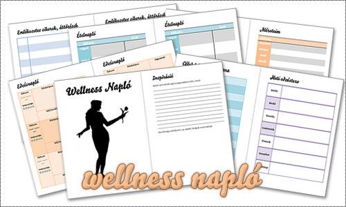 Nyomtatható wellness-napló - urban:eve