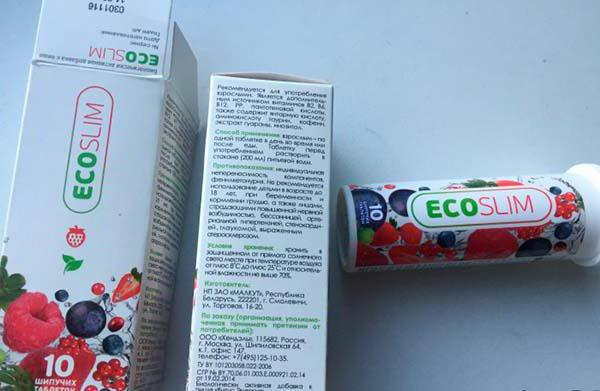 Eco slim cseppek adagolása